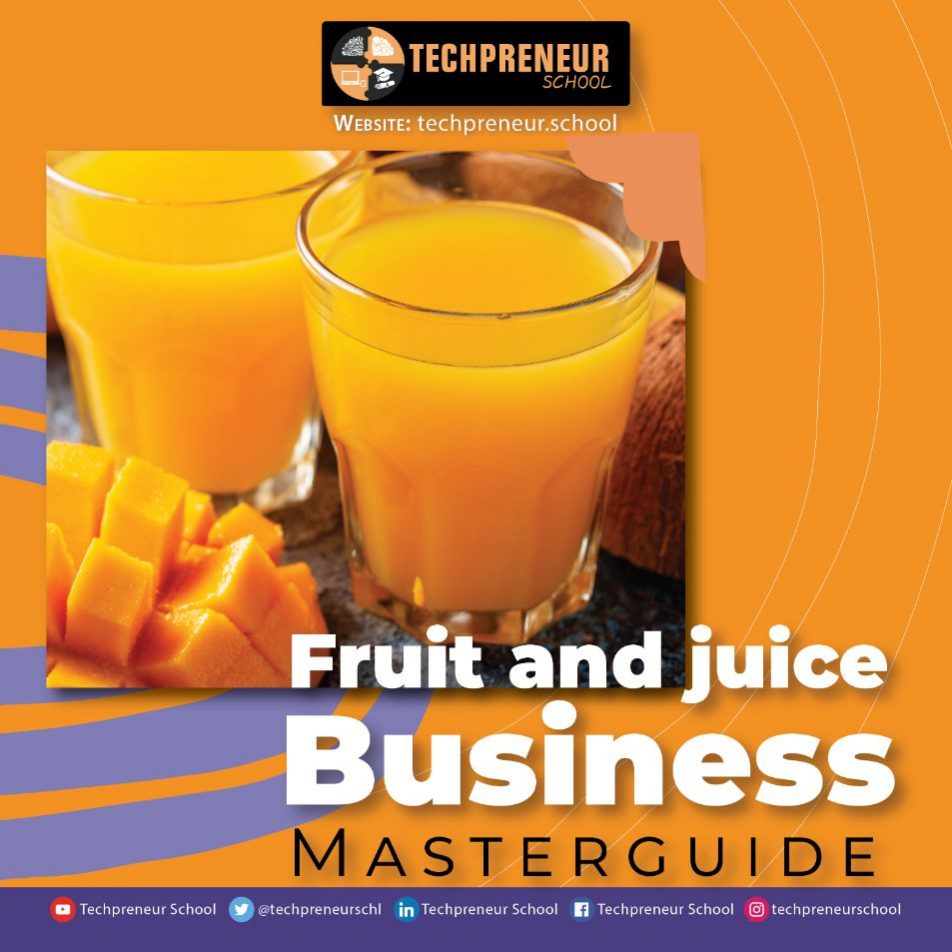 Fruit and juice Business poster