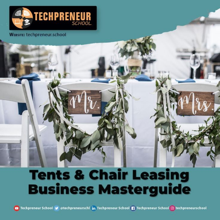 Tents and Chair Leasing Business poster