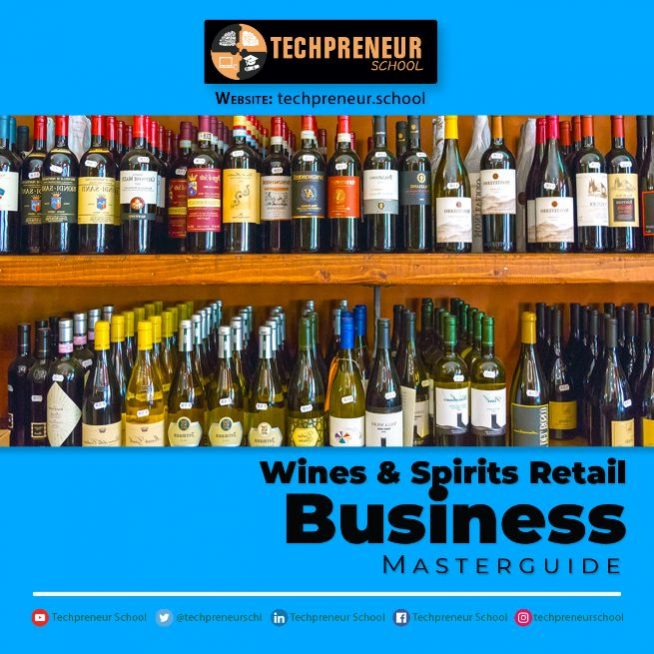 Wines and Spirits Retail Business poster